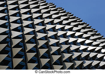 Esplanade - The roof of the Esplanade theatre in Singapore...