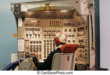Display of a pilot and control panel - Display of a pilot...