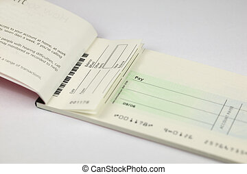 Cheque Stub - Blank Cheque book stub with space for copy on...