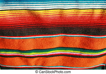 mexican blanket - A hand woven mexican blanket that is very...