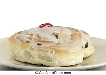 Sticky Bun with cherry on top