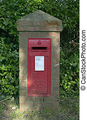 Post box 81 - Brick pillar post box in a country village