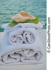 shell spa - spa supplies, towels, washcloth and tranquil...