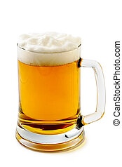 Mug of delightful amber beer - Mug of delightful amber beer...