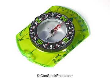 Compass isolated with clipping path - An orienteering...