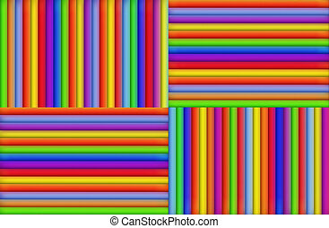 Colored Stripes - A background of colored stripes in four...