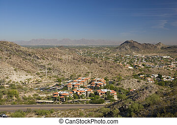 Phoenix and Scottsdale, AZ - Red Roof Houses in Phoenix,...