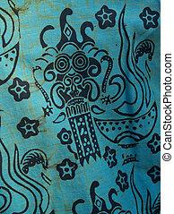 襯衫, 細節, 蜡防印花布,  African, 印刷品, 棉花