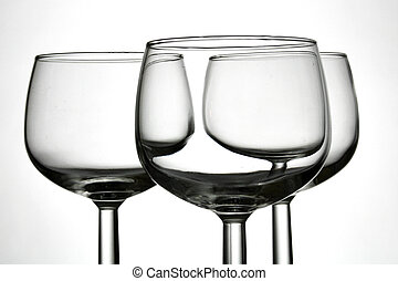 Wine glasses - Empty wine glasses