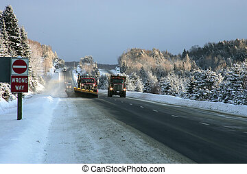 snowplow in action - taken on highway 11 near huntsville ont