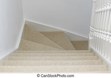 View down stairs - An interior shot of a view down some...