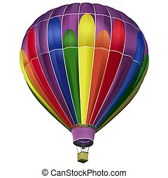 Air-balloon - High detailed and coloured illustration.