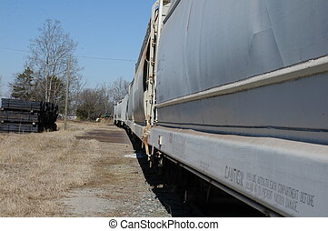 Trains - Freight cars on a rail siding