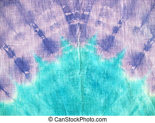 Purple Aqua Tie-dye - retro tie-dyed background pattern in...