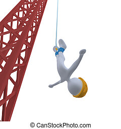 Bungee Jumping #3 - Computer generated image - Bungee...