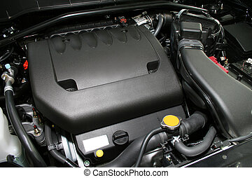 powerful engine - The powerful engine of the new car