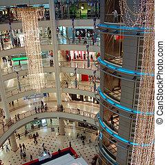 einkaufszentrum, shoppen,  3