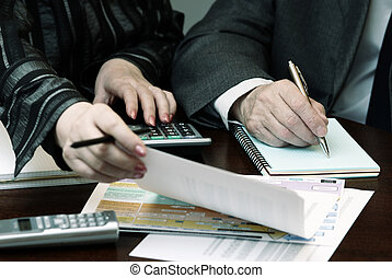 business people - focus on the pen(hand of the man),special...