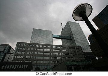 modern buildings, shapes lines in brussel belgium