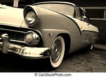 classic car - Black classic car