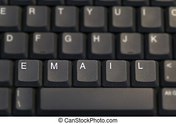 Email - EMAIL spelt out on a computer keyboard, Shot with a...