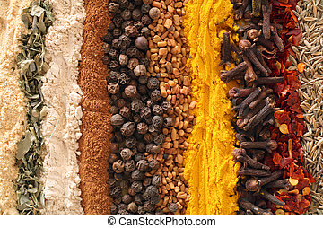 Curry spices - An assortment of spices used in curries. From...