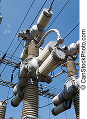 Electrical wires - transmission line tower