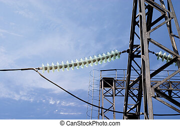 transmission line tower - power transmission line tower...