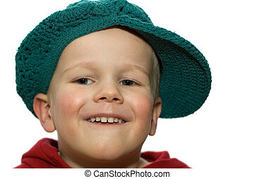 Little Boy with Hat 2 - Cute picture of a little 3 year old...