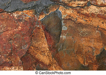 Natural Slate - Natural slate with shades of red, brown,...