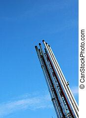 Incinerator Chimney - Slim tall incinerator chimneys...