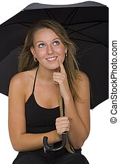 Is It Going To Rain - Isolated shot of a beautiful young...