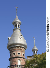University of Tampa building with two minarets