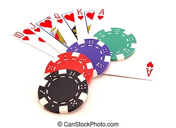 Gambling chips - pile of gambling chips