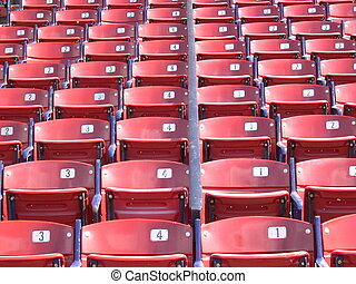 Fenway - Empty seats at Fenway Park, Boston