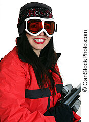 Winter sports - Female dressed for some winter sports...