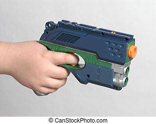 high tech toy gun - hand held