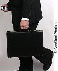 Businessman running with briefcase 2