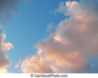 clouds - sky with clouds before evening