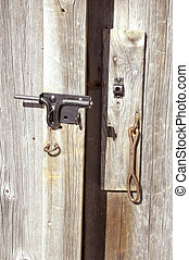 Open latch - Old barn door