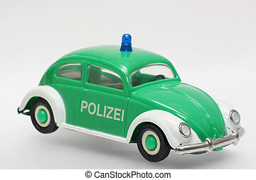 German police toycar - Old plastic police car. German police...
