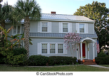 Gray Coastal Home