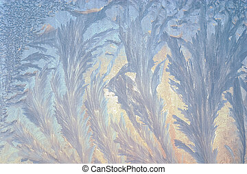 frosting background - beautiful frosty window, good...