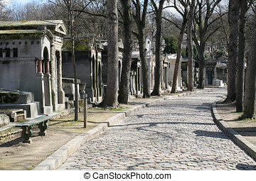 Pere Lachaise cemetery - Cemetery of Pere Lachaise in Paris