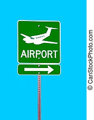 Airport Sign - Photographed airport sign at local area in...