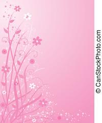 Pink Floral Backgrou - Background illustration of pink and...