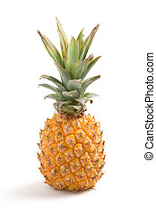 Fresh pineapple - A fresh pineapple on a white background