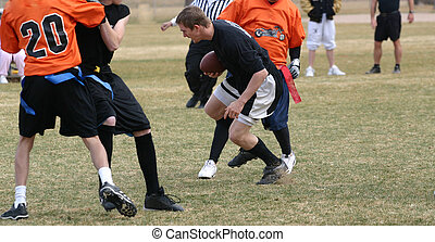 Flag Football - Flag football players during play