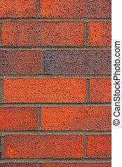 Bricks and Mortar - Red brick and mortar wall.