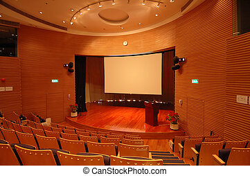 The theater stage - The interior of a theater, the stage and...